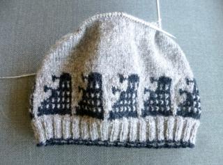 Dalek hat with charts by Lorraine Condotta