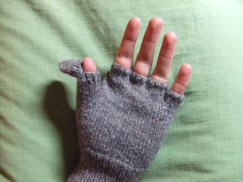 Halvfingervantar med värmare